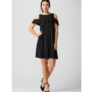 NWT LNBF Polly Striped Off the Shoulder Dress